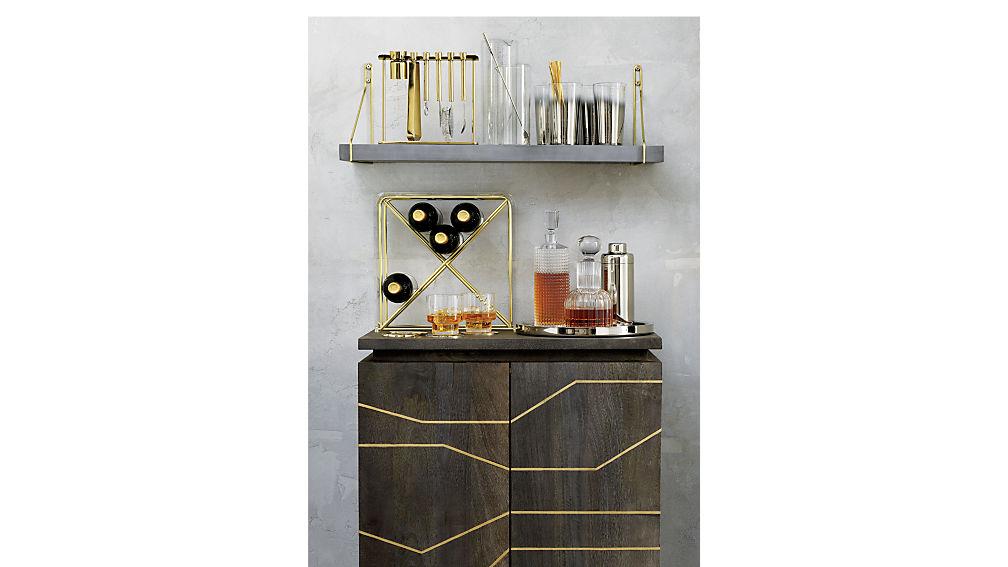 brass inlay cabinet