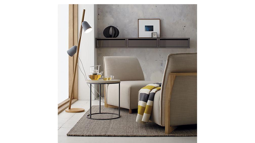 Slice Grey Wall Mounted Storage Shelf Cb2