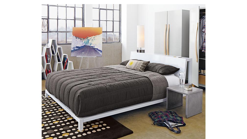 alpine white king bed