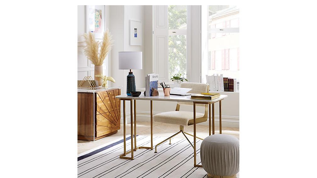 pleated ottoman-stool