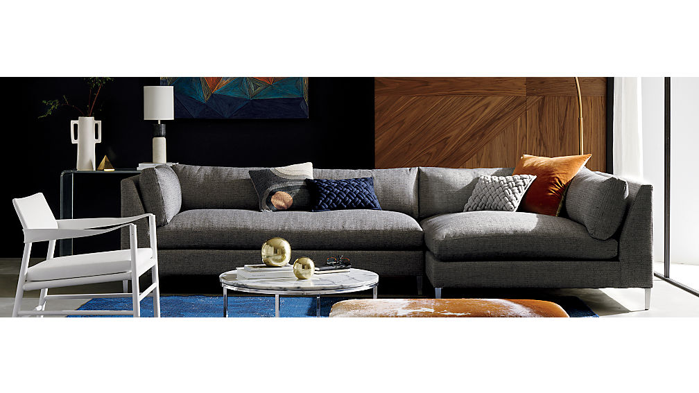 Decker 2 piece sectional sofa cb2 for Decker 2 piece sectional sofa