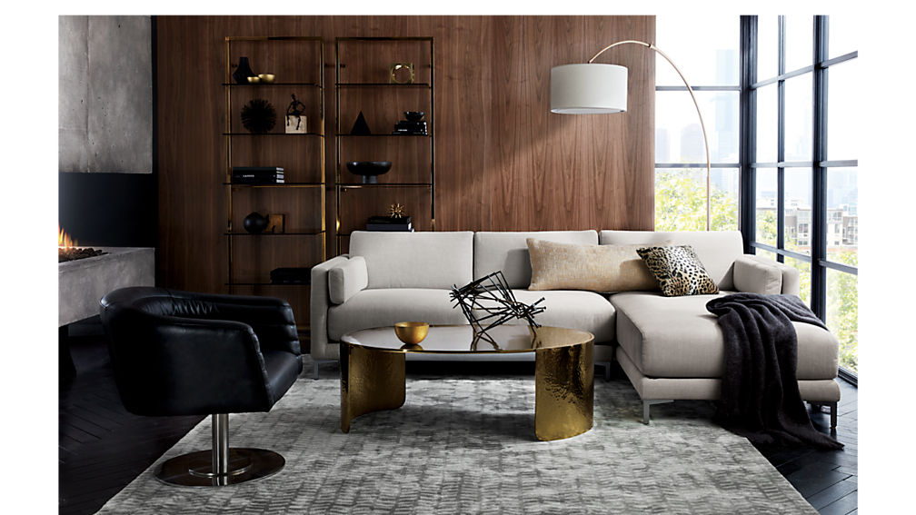 Cupa Black Leather Swivel Base Chair