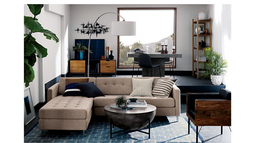 ditto II hemp tufted sectional sofa