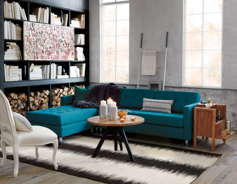 ditto II peacock sectional sofa Reviews CB2