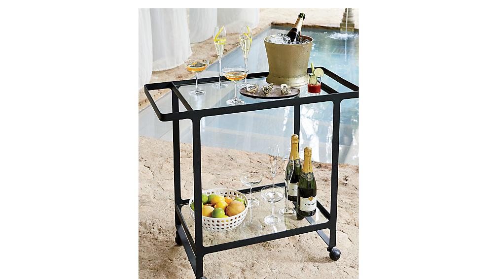dolce vita outdoor bar cart