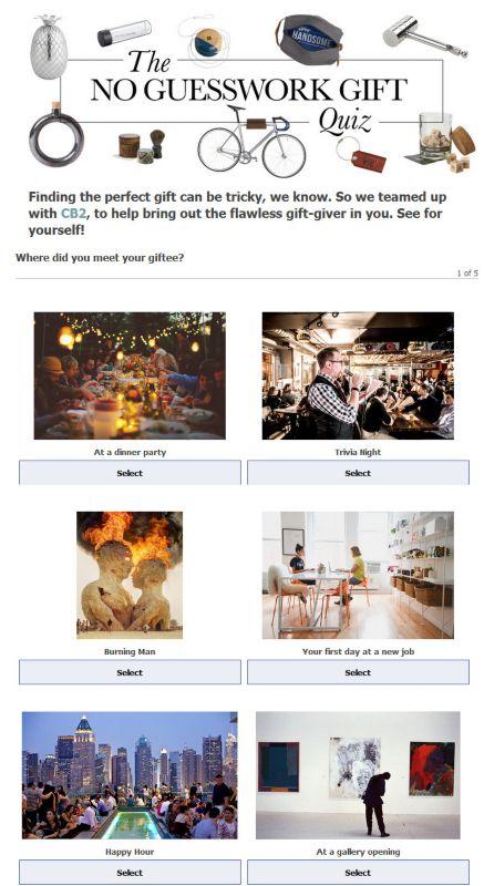 Domino Gift Quiz | Idea Central - CB2 Blog