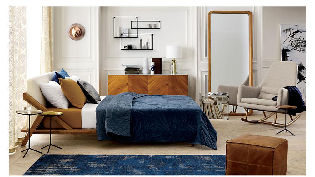 drommen acacia wood full bed
