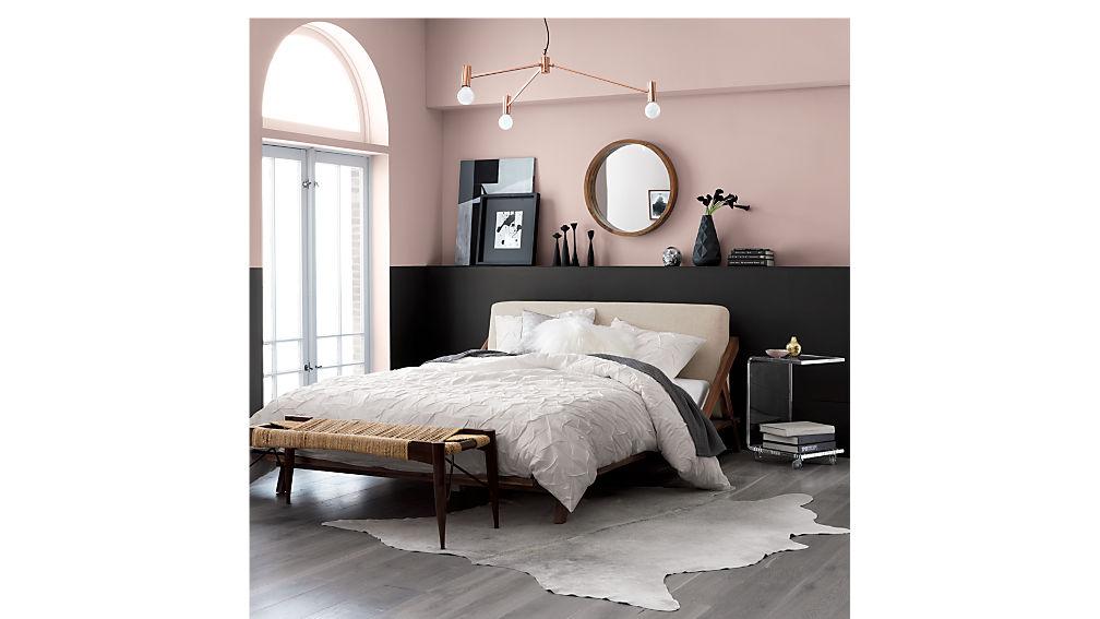 drommen acacia wood queen bed