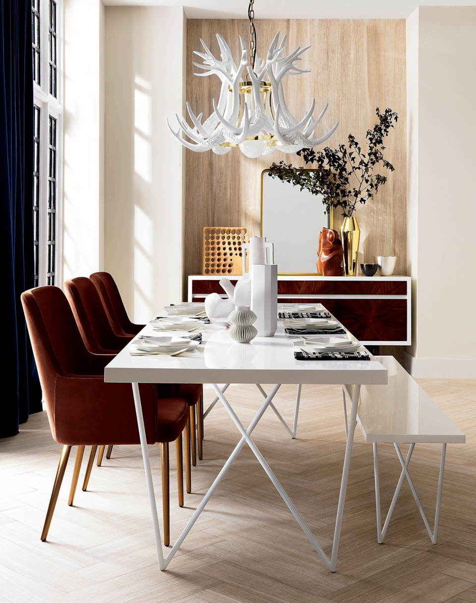 Easy White Fall Decor Ideas For Your Home - Cb2 white dining table