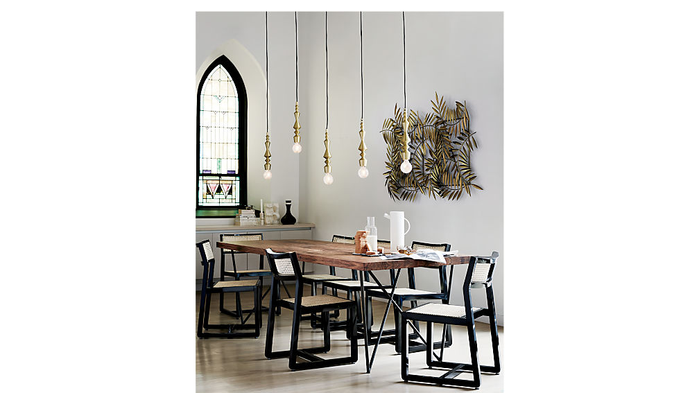Makan Black Wood and Cane Chair