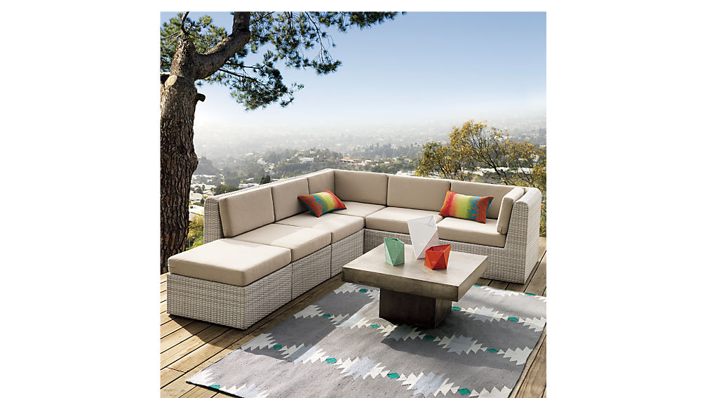 Ebb Outdoor Sectional Cb2