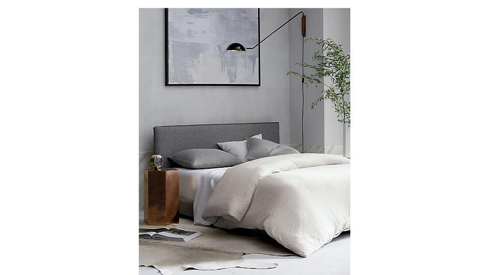 façade grey queen bed