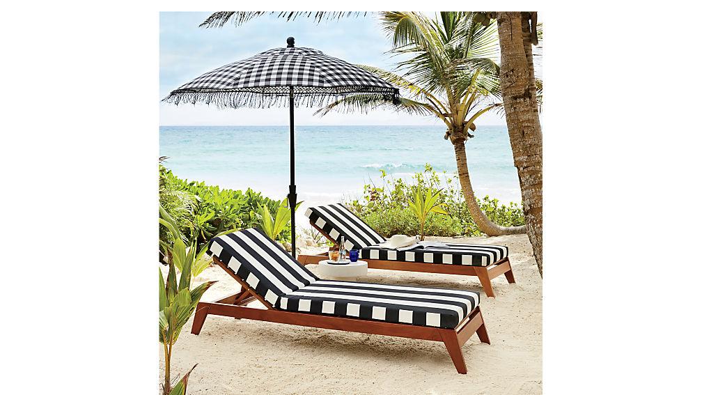 poleng gingham umbrella shade with pole