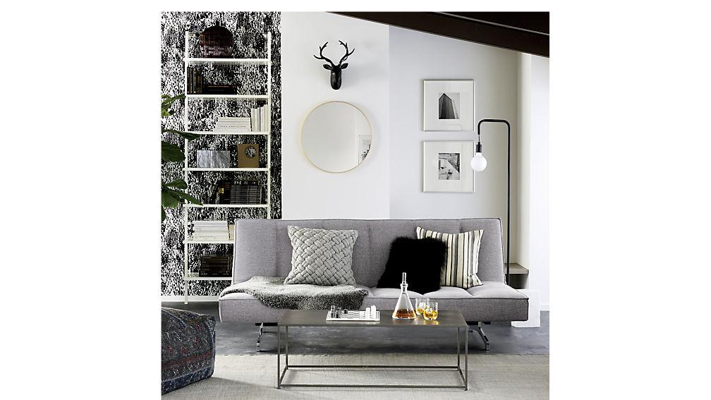 flex microgrid grey sleeper sofa