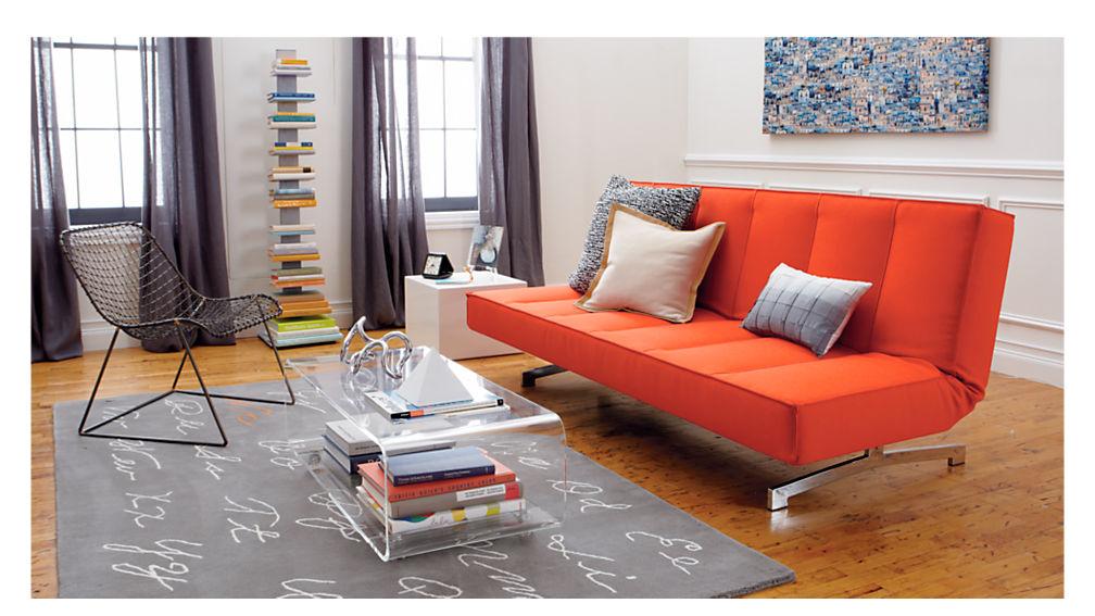 Flex Orange Sleeper Sofa Reviews Cb2