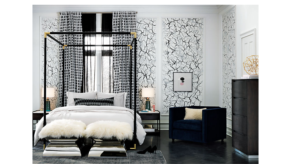 tux marble top nightstand