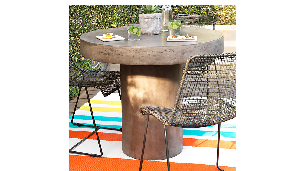 Good Fuze Grey Bistro Table; Fuze Grey Bistro Table ...