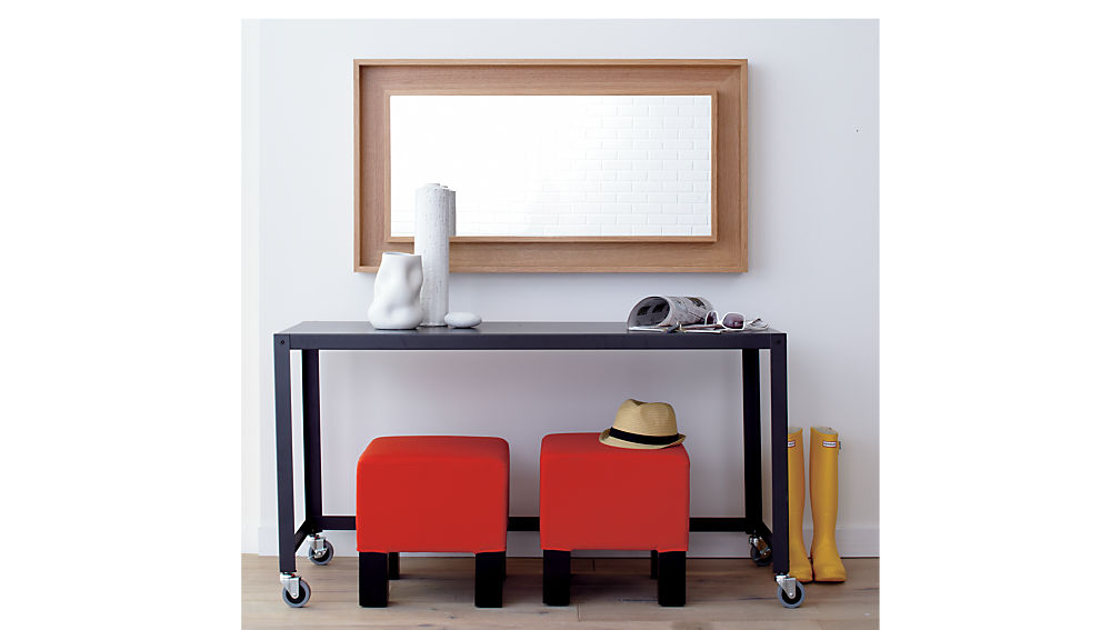 go-cart carbon rolling console table