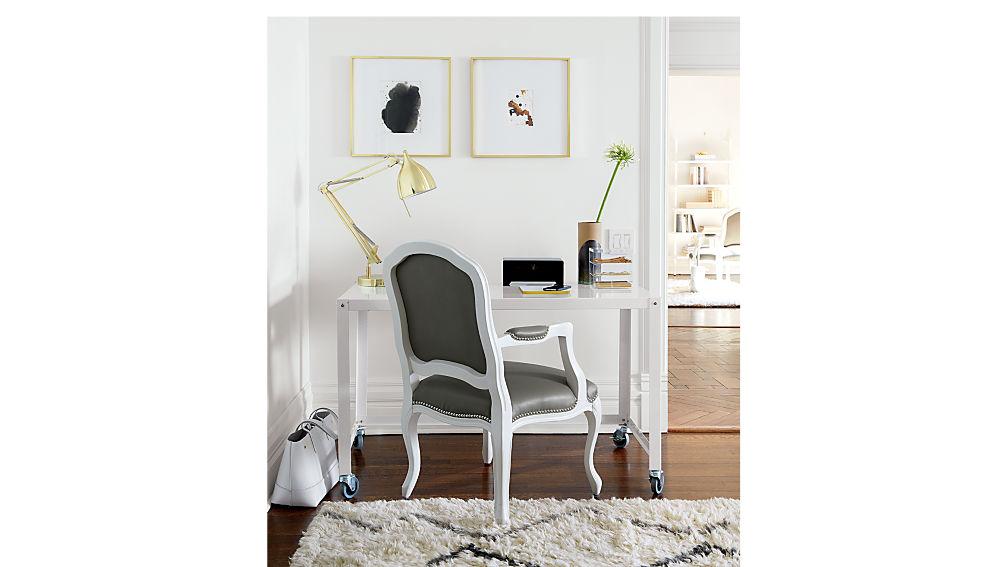 stick around white-grey arm chair