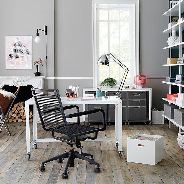 swing arm black wall sconce reviews cb2. Black Bedroom Furniture Sets. Home Design Ideas