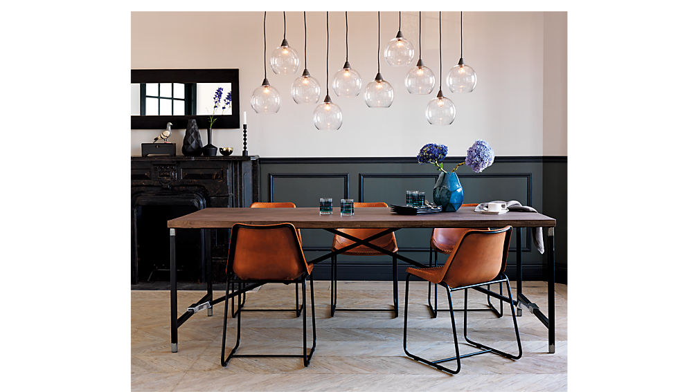 Roadhouse Leather Dining Chair in accent chairs + Reviews | CB2