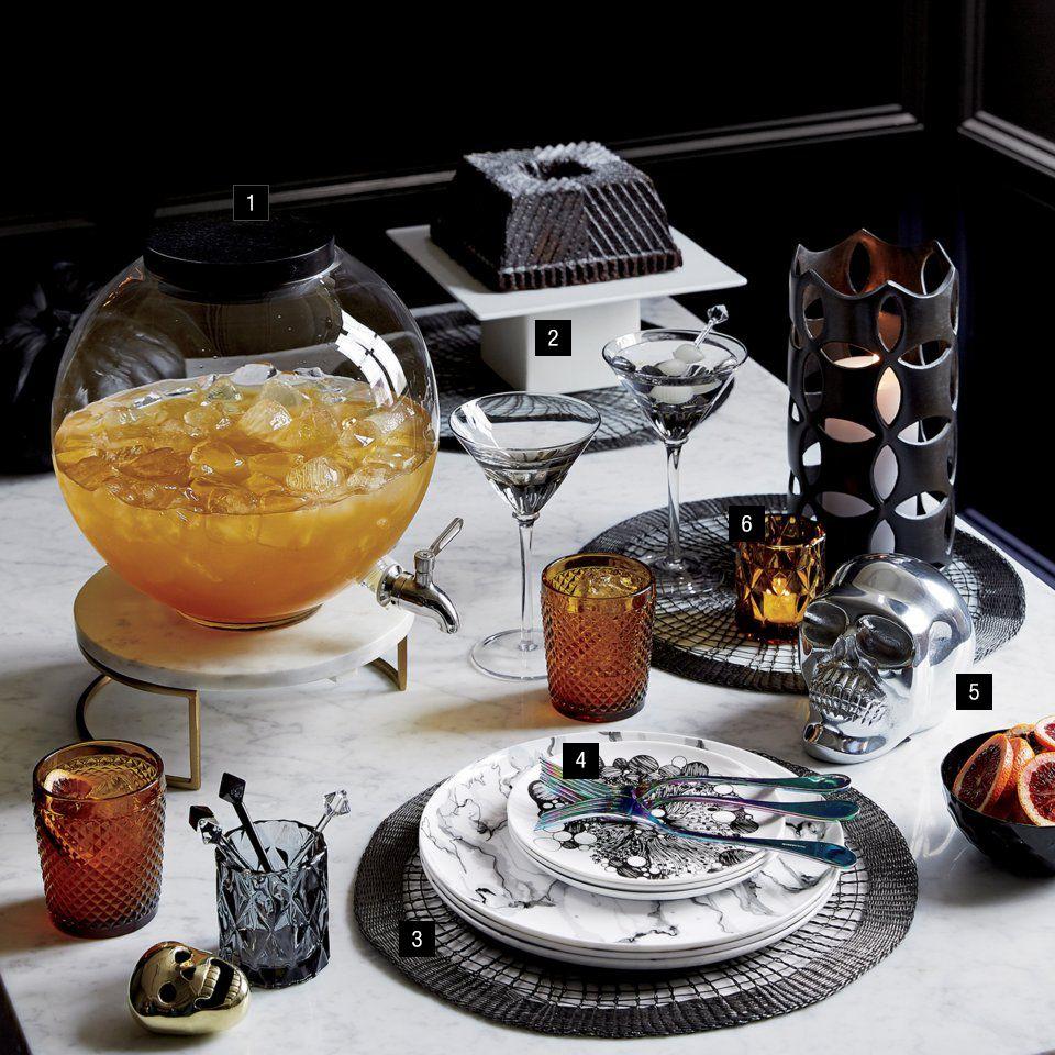 a devilish halloween tablescape - cb2 idea central