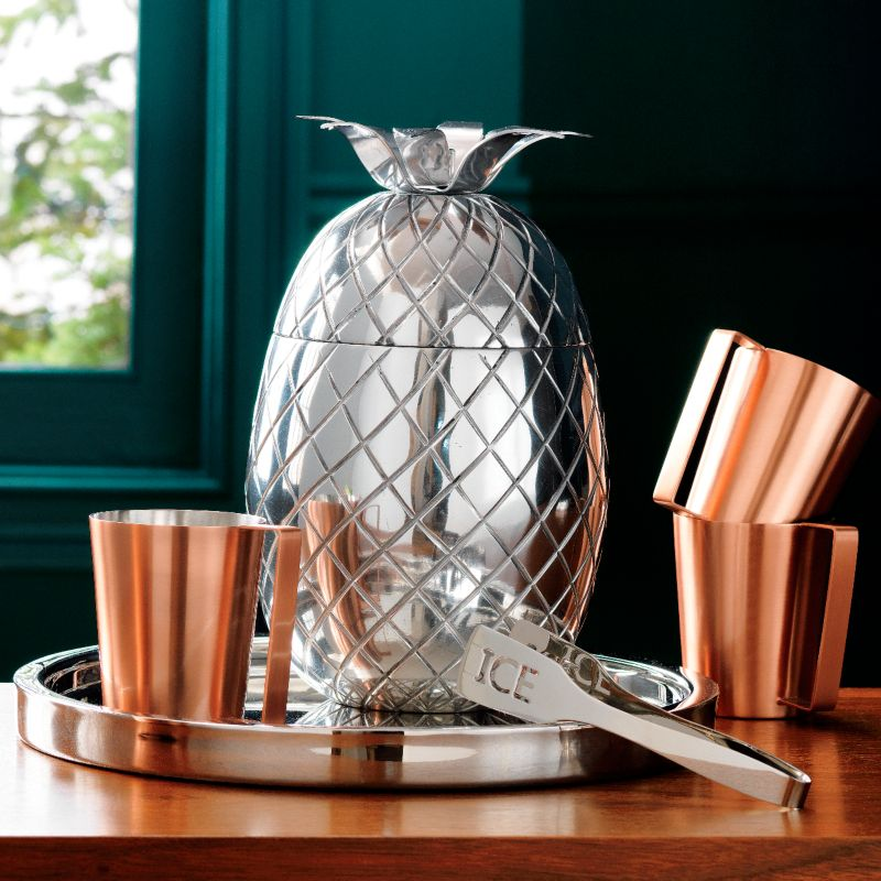 Swanky '40s feel pineapple ice bucket