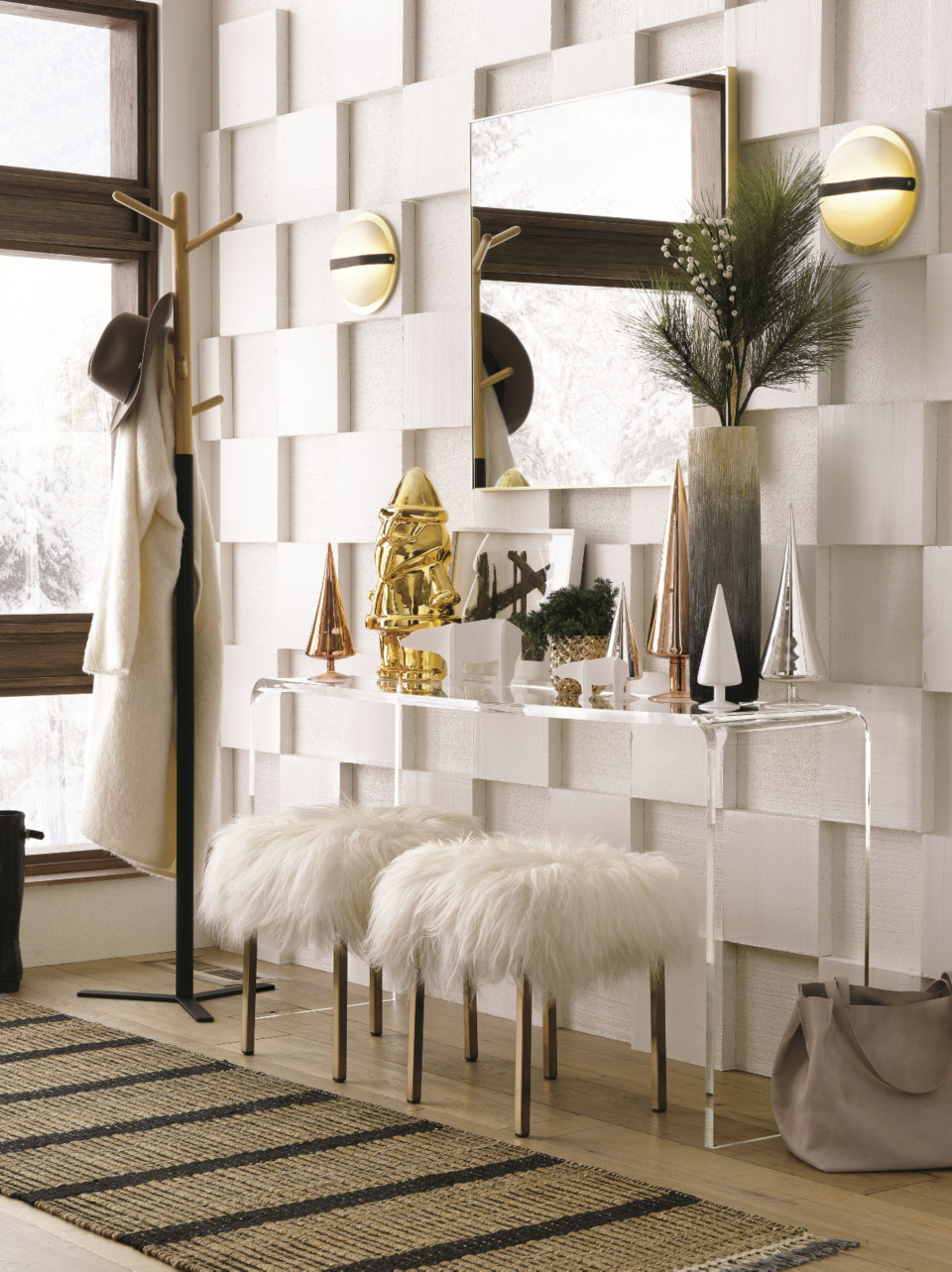 modern holiday decorating ideas cb2 blog - Modern Christmas Decorating Ideas