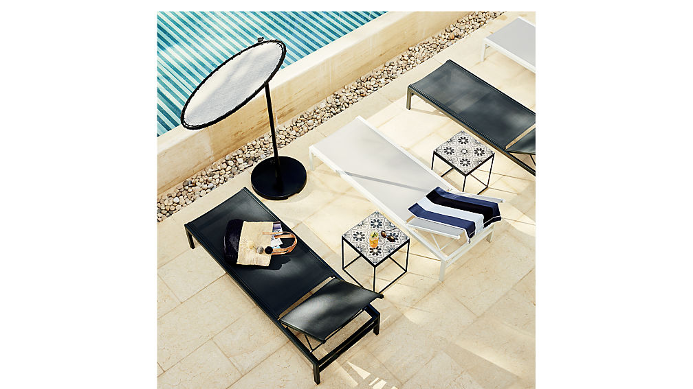 Idle Grey Outdoor Chaise Lounge Cb2