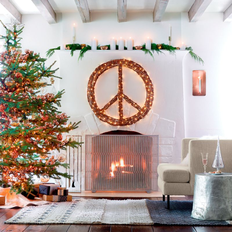 Modern Holiday Decorating Ideas Part - 46: Because World Peace Is On Everyoneu0027s Mind. Designed By Robert And Cortney  Novogratz, This Inner Peace Wreath Reminds Us Of Whatu0027s Most Important In  Life.