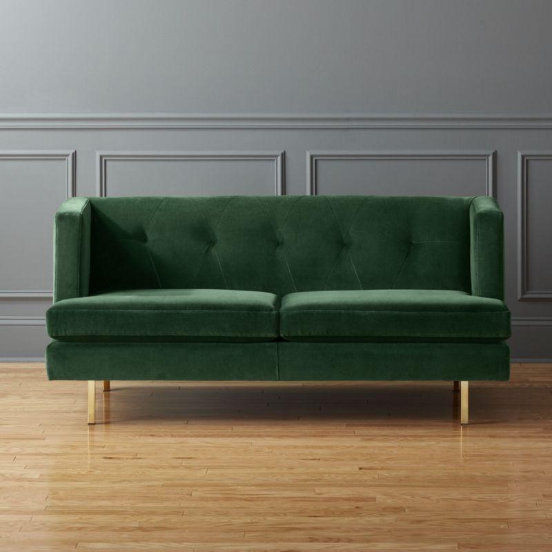 Avec Apartment Sofa With Brass Legs Cb2