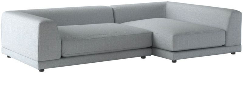 Excellent Uno 2 Piece Left Arm Sapphire Striped Sectional Sofa Pdpeps Interior Chair Design Pdpepsorg