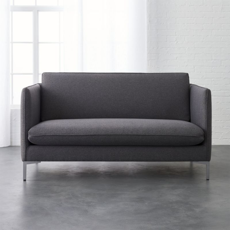 Flatiron Grey Apartment Size Sofa Cb2