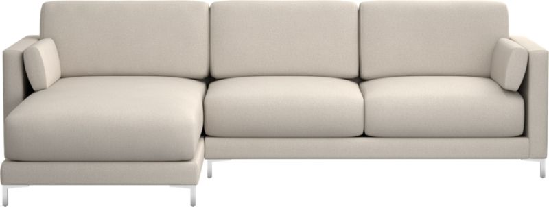 district dove 2piece sectional sofa