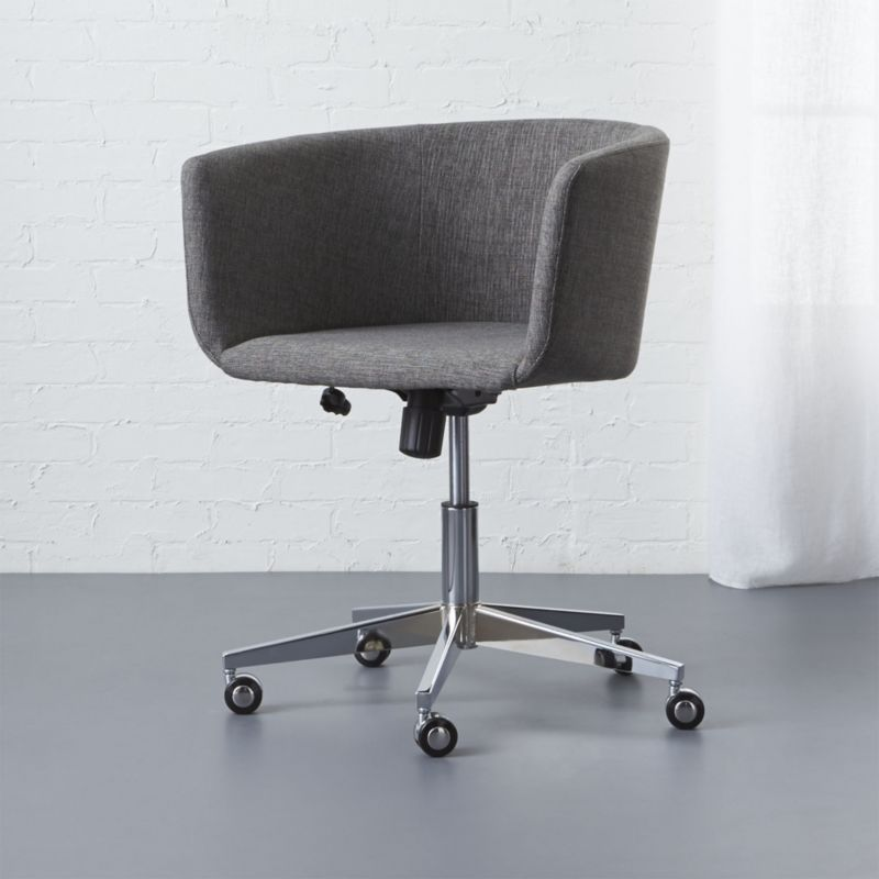 modern swivel chairs | cb2