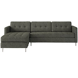 ditto II salt & pepper sectional sofa