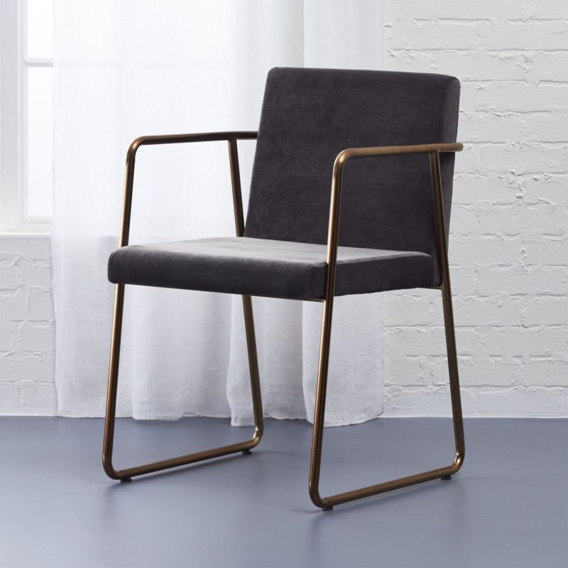 Rouka Dark Grey Dining Chair Reviews Cb2