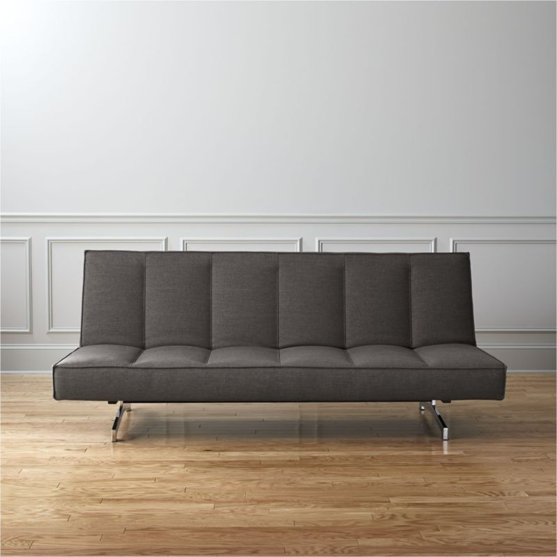 flex grey queen sleeper sofa   cb2  rh   cb2