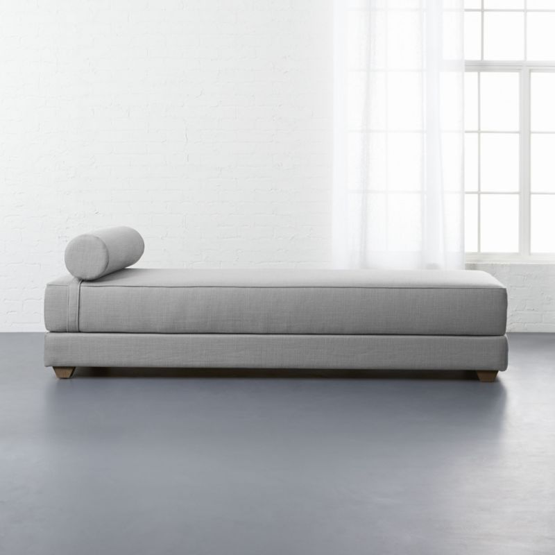 lubi silver grey sleeper daybed - Modern Daybeds CB2