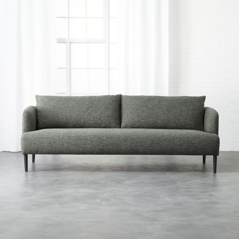 Ronan Grey Sofa Reviews Cb2