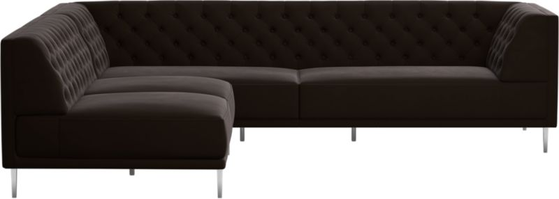 Cool Sectionals kick back on cool & comfortable modern sectional sofas | cb2