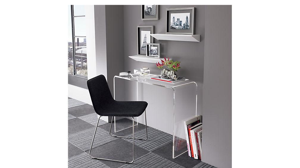 "peekaboo 38"" acrylic console table"