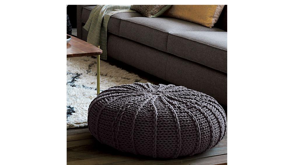 jumbo knit shale pouf