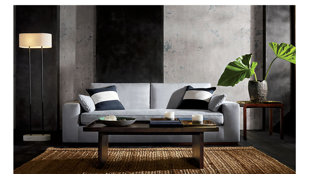 bento coffee table with two trays and two cushions