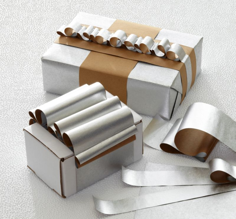 reversible kraft and silver paper gift wrap