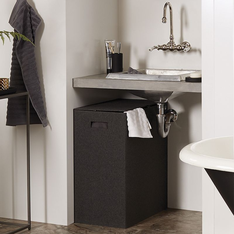 Delicieux 8. This Hamper Corrals Loose Clothes And Towels. Our Charcoal Felt Hamper  Makes Dirty Laundry Look Nice And Neat. Itu0027s Made Of A Charcoal Menswear  Wool Felt ...