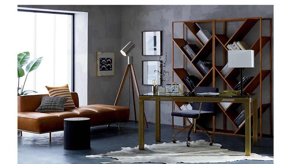 Rouka Velvet Office Chair Cb2