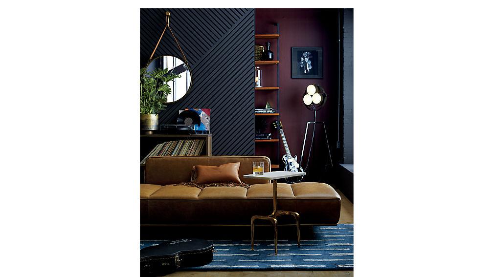 "helix 96"" acacia bookcase"