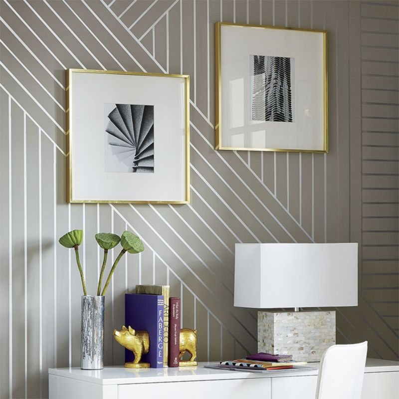 Wallpaper Paint Roller diy linear wallpaper | idea central - the cb2 blog