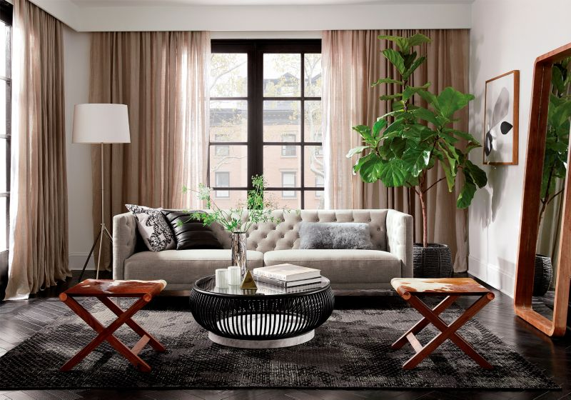 living room makeover ideas cb2 blog1 think foundation first in the before photo, you\u0027ll notice a traditional rug underneath the coffee table which, in another space, could totally work
